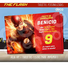 Tarjeta Invitacion The Flash P Imprimir Y Envio Digital 380