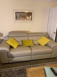 3 seaters and 1 armchair leather sofa