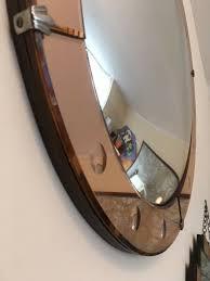 english art deco convex porthole mirror