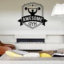 Wall Decal Room Sticker Awesome Gym Work Out Fitness Crossfit Weight Lift Bo2989 Ebay