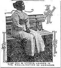 Ada Harris vroeg in 1893 patent a vr d stijltang