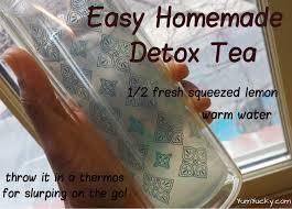 easy homemade detox tea yum yucky
