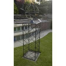 olympian globe garden obelisk black