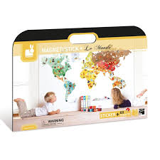 Magnetic Wall Stickers Set Janod World Map Magnetistick Educational Toys Planet