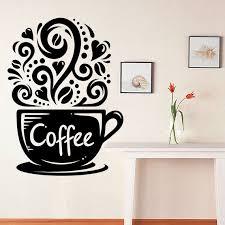 Coffee Wall Decal Kitchen Decor Coffee Decor Fresh Ground Etsy