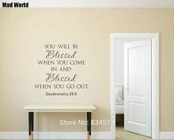 You Will Be Blessed Bible Verse Quote Scripture Wall Art Stickers Wall Decals Home Diy Decoration Removable Decor Wall Stickers Wall Stickers Aliexpress