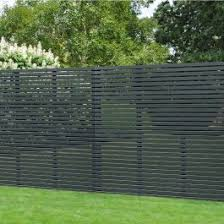 Forest 6 X 6 Contemporary Grey Slatted Fence Panel 1 8m X 1 8m B M