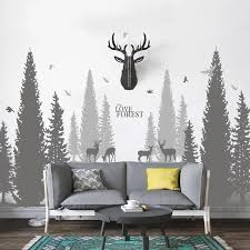 Pine Tree Forest Wall Decals The Treasure Thrift