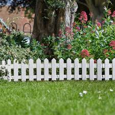 Smart Garden 4 X White Picket Fence Path Border Lawn Plant Beds Edging Amazon Co Uk Garden Outdoors