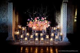 fl arrangement with candles in a