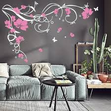 J3 Large Butterfly Vine Flower Vinyl Removable Wall Stickers Tree Wall Art Decals Mural For Living Room Bedroom Home Decor T191029 Floral Wall Decals Floral Wall Stickers From Mingjing01 16 12 Dhgate Com