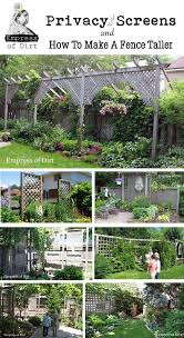 How To Make A Fence Taller For Better Privacy Empress Of Dirt Garden Privacy Backyard Backyard Privacy