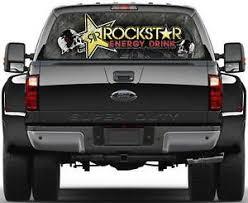 Rockstar Energy Version 1 Window Graphic Decal Sticker Truck Suv Van Car Ebay