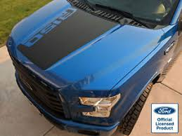 2019 Ford F 150 Hood Stripe Decal W Angled F150 Logo Vinyl Stickers Graphics