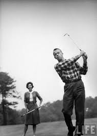Astronaut Alan B. Shepard and his wife playing golf. Location: US Date  taken: May 1961 Photographer: Ralph Morse | Golf school, Play golf, Golf  quotes