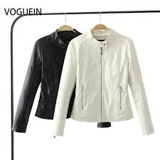 womens fashion black white faux leather