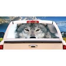 Wolf 1 Rear Window Graphic Back Truck Decal Suv View Thru Vinyl Walmart Com Walmart Com