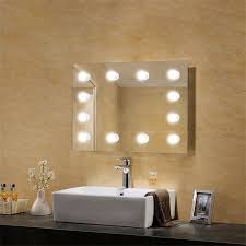 mirror with light bulb led wall mirrors