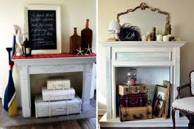 decorate the unused fireplace in the