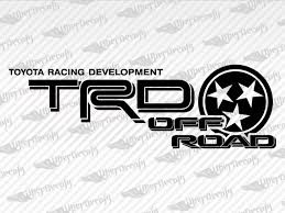Toyota Trd Off Road Tennessee Decal Stickers