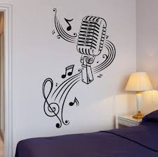 Vinyl Decal Music Karaoke Microphone Sheet Great Decor Wall Stickers Ig377 Ebay Wall Stickers Music Wall Decal Sticker Decor