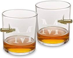 personalized bullet whiskey glasses