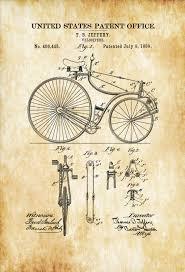 velocipede patent 1889 bicycle decor