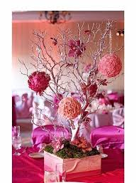 diy centerpieces tree and large flower