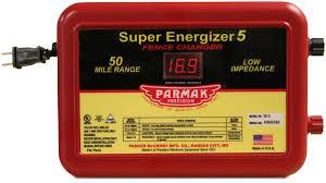 Amazon Com Parmak Super Energizer 5 Low Impedance 110 120 Volt 50 Mile Range Electric Fence Controller Se5 Livestock Equipment Garden Outdoor