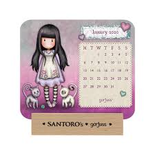 Gorjuss Wooden Block 2020 Calendar Santoro London Bamboline