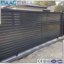 China Grey Aluminium Sliding Fence Panel Driveway Gate China Horizontal Aluminum Fence Aluminum Alloy Profile