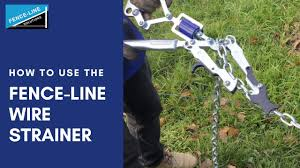 How To Use The Fence Line Solutions Wire Strainers Youtube