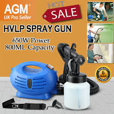 800ml Electric Paint Sprayer 650w Power Hvlp Spray Gun 3 Spray Mode Fence Wall 5060100646183 Ebay