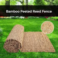4m Bamboo Screening Roll Natural Fence Panel Peeled Reed Fencing Outdoor Garden Ebay