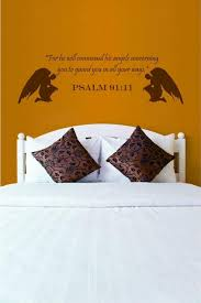 Psalm 91 11 For He Will Command Bible Vinyl Wall Art Decal Sold By International Expressions On Storenvy