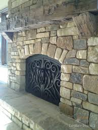 arched custom fireplace doors