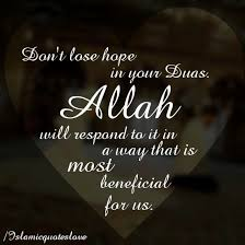 a very important reminder islamic quotes dont lose hope