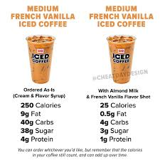 calories in french vanilla iced coffee