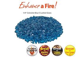 1 4 crushed tempered fire glass