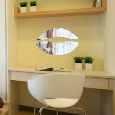 Lips Kiss Crystal Acrylic Mirror Decorative Sticker 3d Wall Sticker For Home Usa