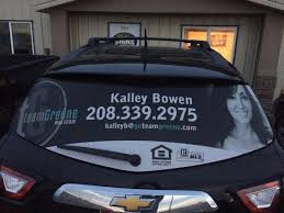 Perforated Vinyl Window Wrap Rexburg Signs And Graphics With Full Color Printing Services