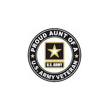 Us Army Veteran Proud Aunt Decal Proud Family Veteran Stickers Priorservice Com