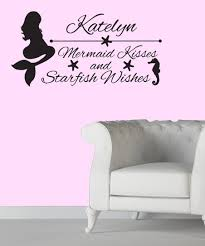 Vinyl Krazy Mermaid Kisses And Starfish Wishes Personalized Decal Set Zulily