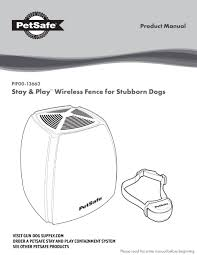 Petsafe Stay Play Pif00 13663 Product Manual Pdf Download Manualslib