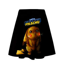 Bộ phim Pokemon Thám Tử PIKACHU 3D Váy Ngắn Bé Gái Giày Xu Hướng Mùa Hè  Thời Trang Nữ nam Váy Thoáng Mát Mùa Hè Thời Trang Phong Cách|