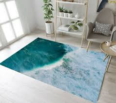 Overlooking Ocean Big Sea Wave Area Rugs Kids Bedroom Living Room Floor Mat Rug Ebay