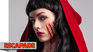 deadly red riding hood makeup tutorial