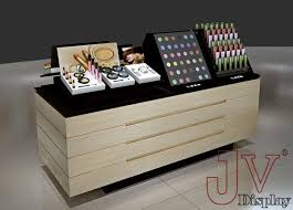 makeup counters and display stand