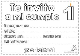 Invitaciones De Cumpleanos Para Ninos Para Imprimir Y Colorear Papelisimo
