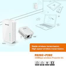 1pair tenda 300mbps wireless powerline